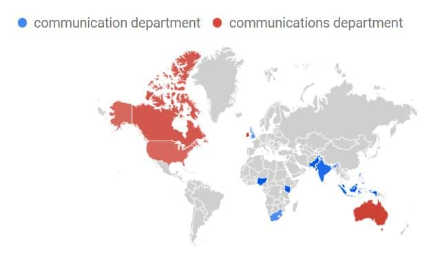 communication departmens